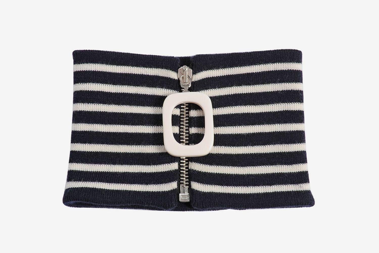 Navy & White Striped Neckband