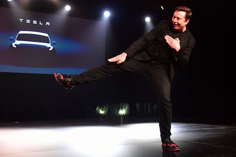 "new arrival 18dcd 3910c Elon Musk s Custom Air Jordan 1 ""Tesla"" Eclipsed the Model Y Unveiling"