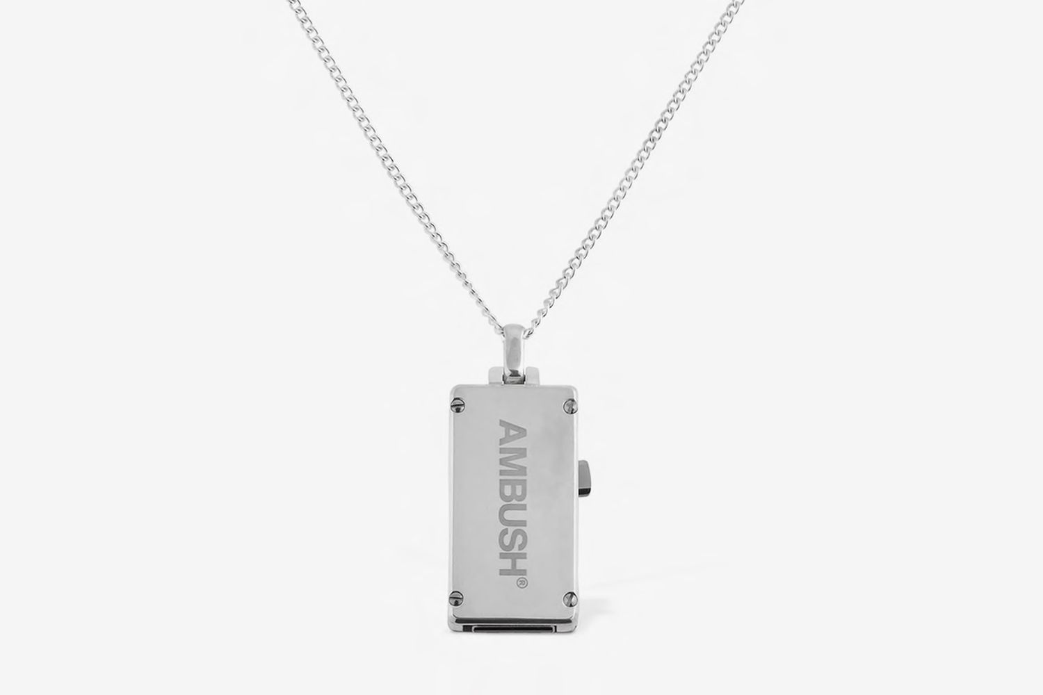 Long Silver Usb Necklace