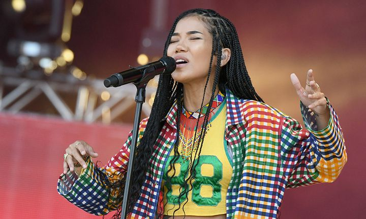 Jhene Aiko performs onstage at SOMETHING IN THE WATER