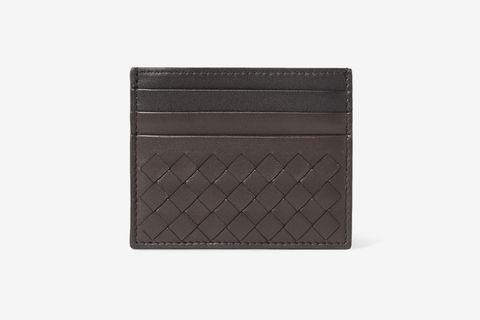 Two-Tone Intrecciato Leather Cardholder