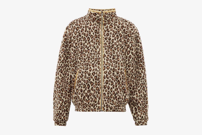 Leogold Leopard-Print Fleece Jacket