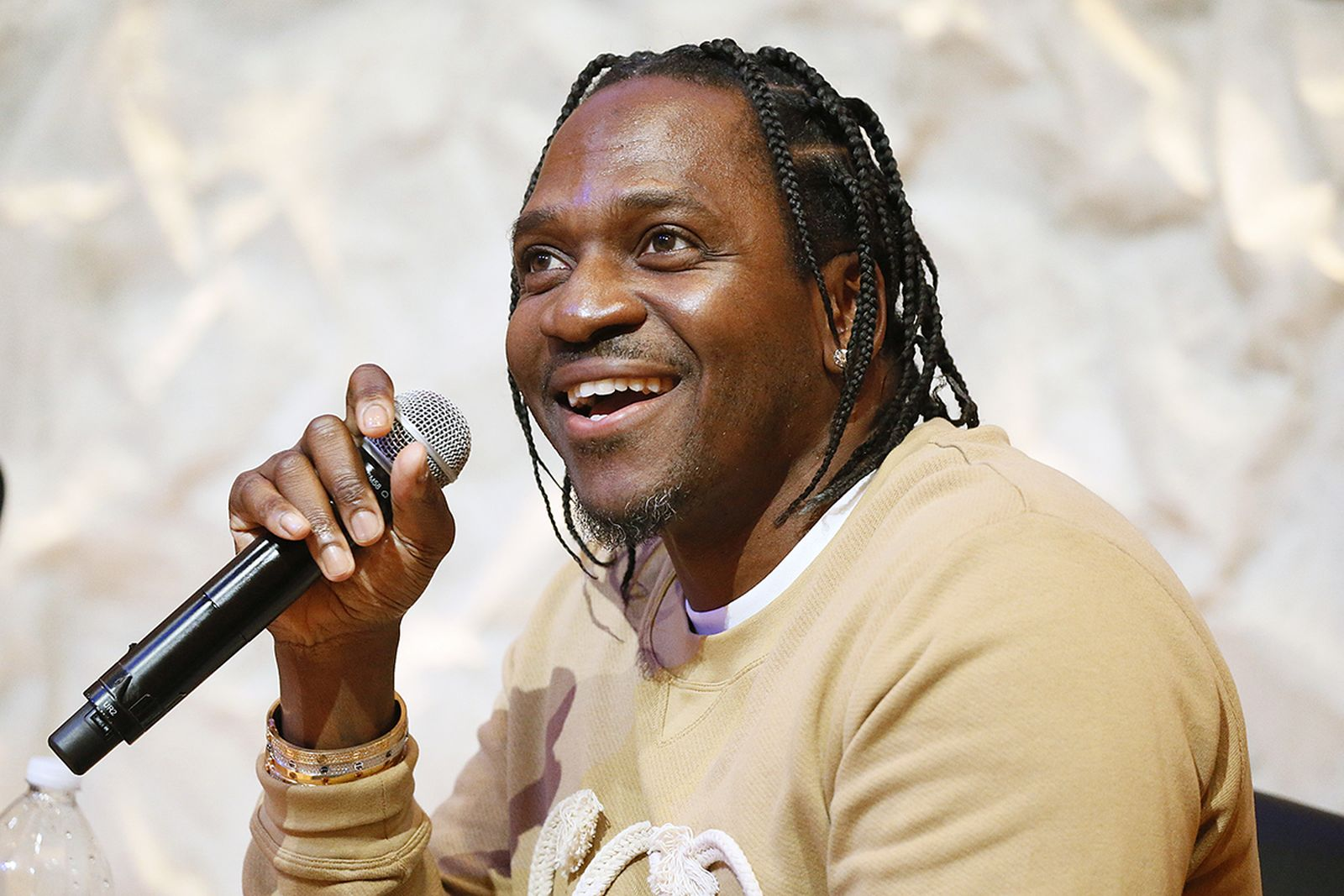 Pusha T speaks at a panel discussion