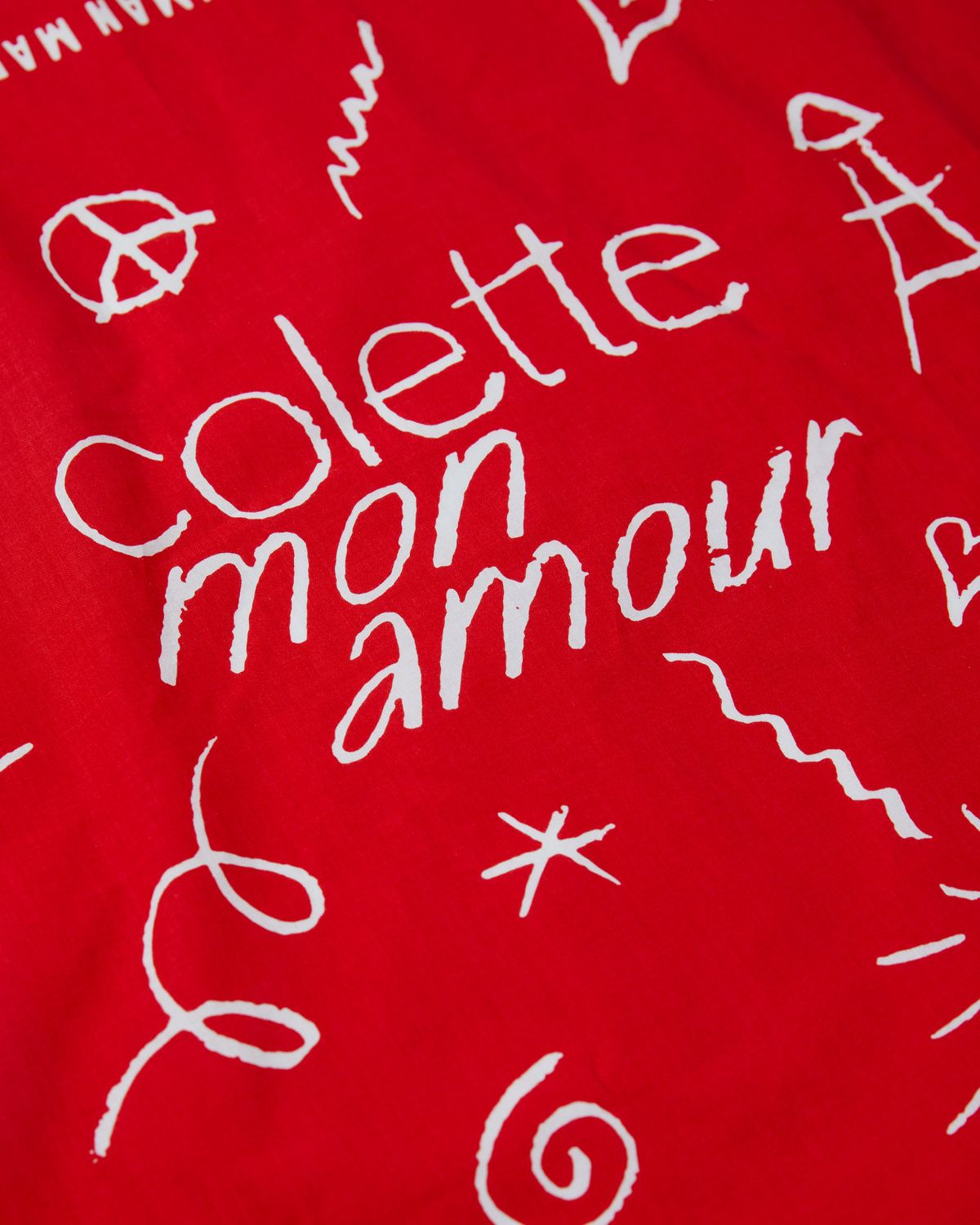 Human Made x colette Mon Amour - Bandana Red - Image 4