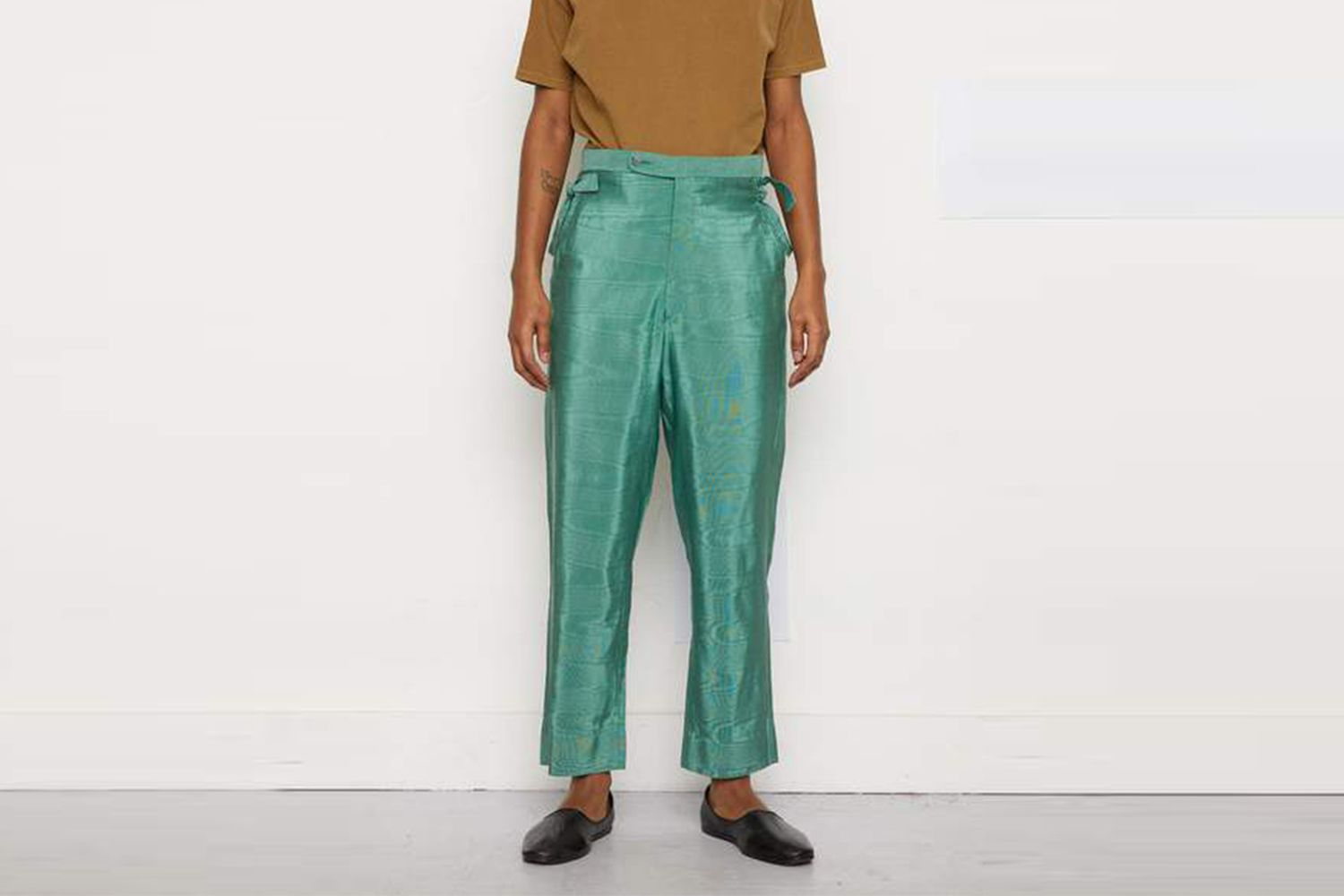 Green Moire Trousers