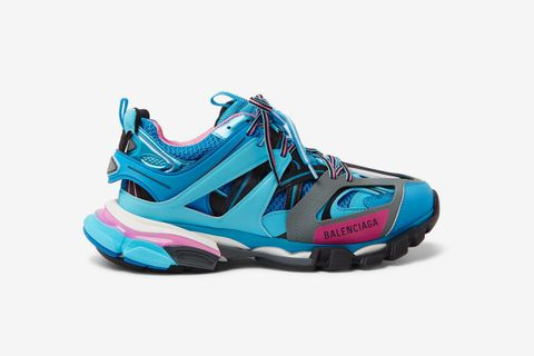 Track Nylon, Mesh and Rubber Sneakers