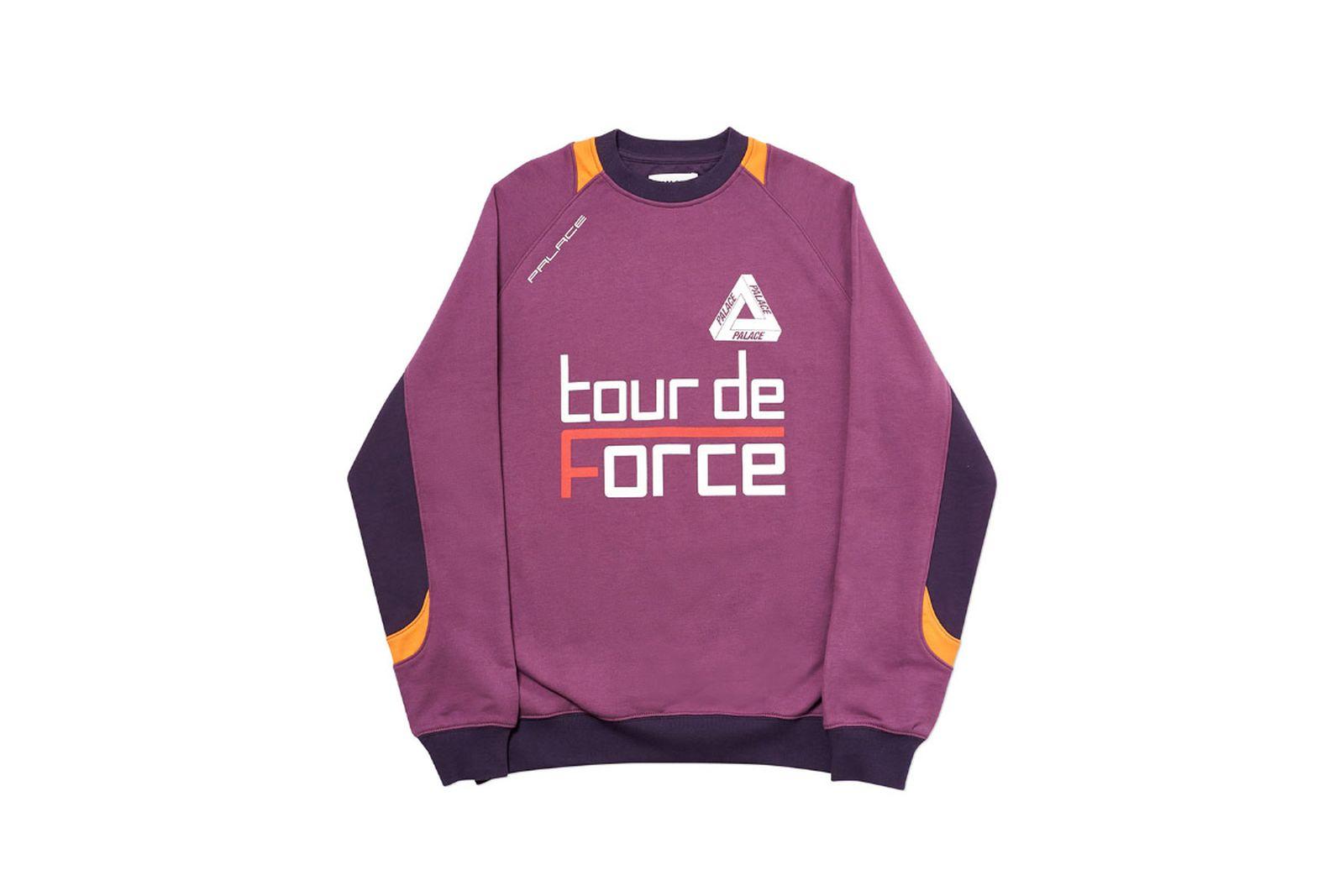 Palace 2019 Autumn Crew Tour De Force purple front 2507 1