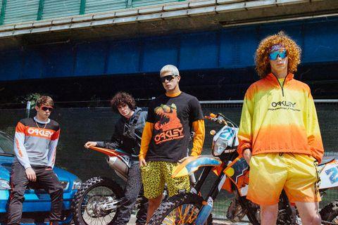oakley new main Paris Fashion Week SS19 Pharrell Williams cycling sunglasses