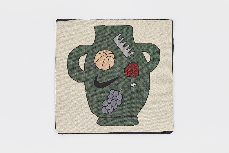 Green Vase Pillow Cover