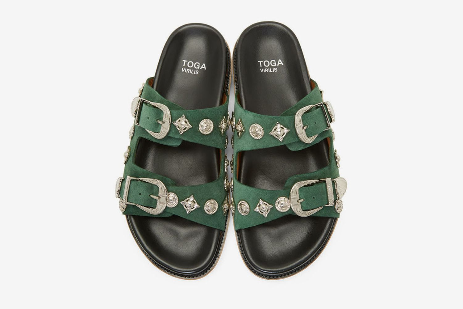 Suede Charm Sandals
