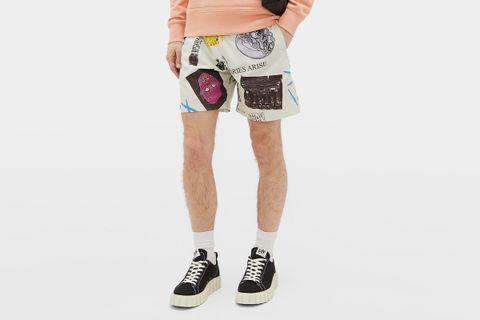Thrasher Graphic-Print Cotton-Ripstop Shorts