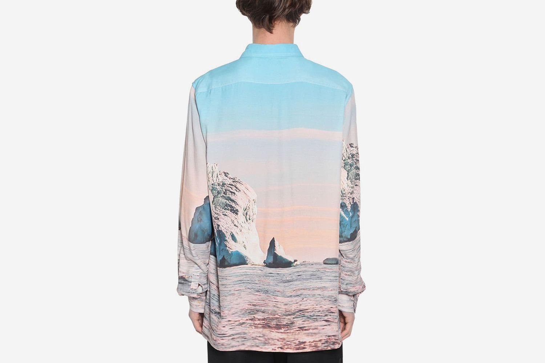 Iceberg Printed Rayon Shirt