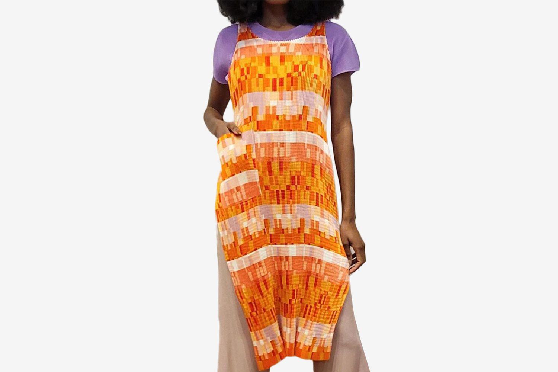 Vintage Geo Apron Dress