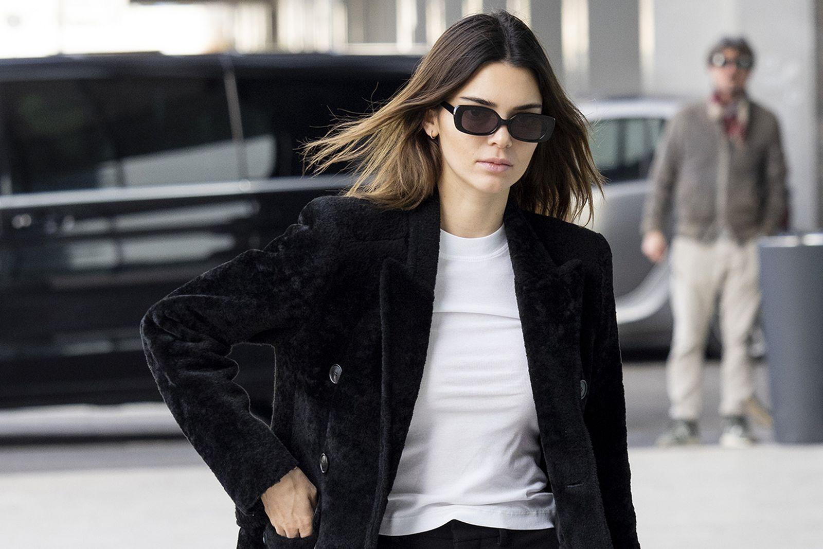 Kendall Jenner is seen during Milan Fashion Week