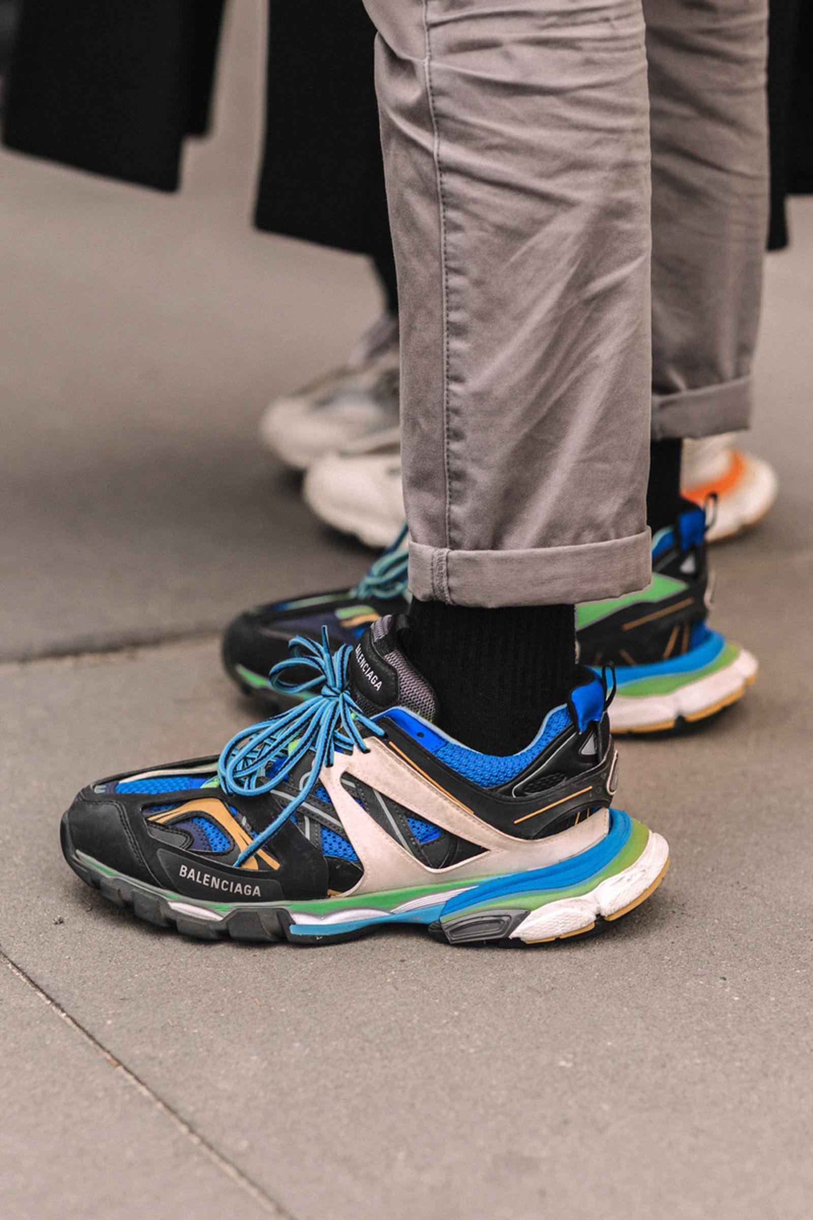 new york fashion week fw19 sneaker street style Balenciaga salomon