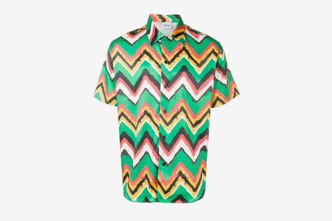 Zig-Zag Print Shirt