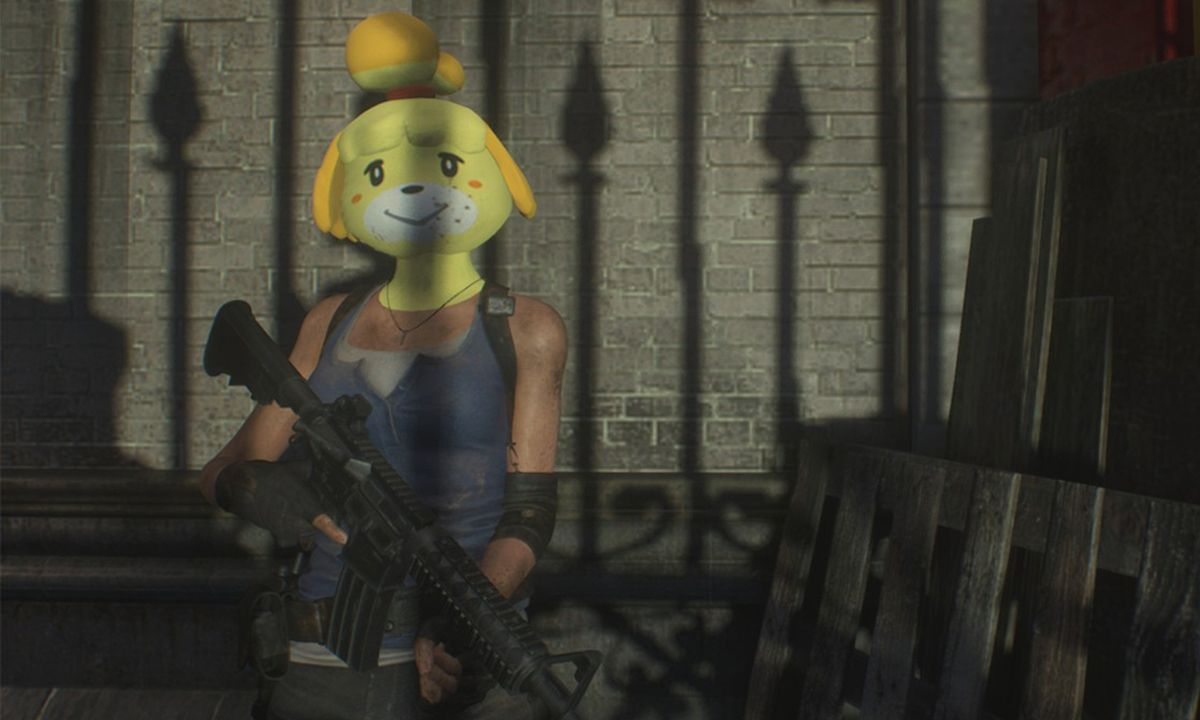 Someone Put 'Animal Crossing's Isabelle in 'Resident Evil 3'