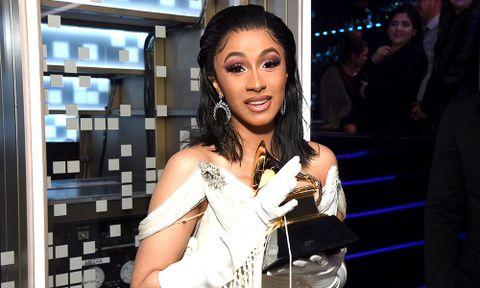 cardi b deletes instagram 2019 Grammy Awards