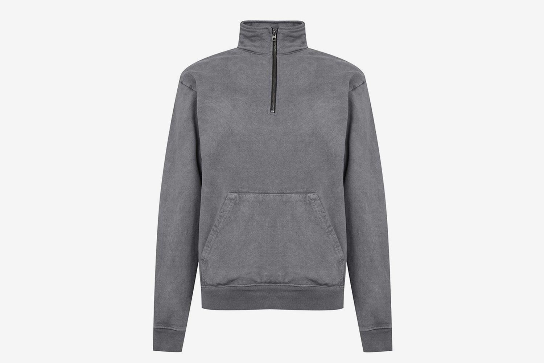 Mock Half-Zip Sweatshirt