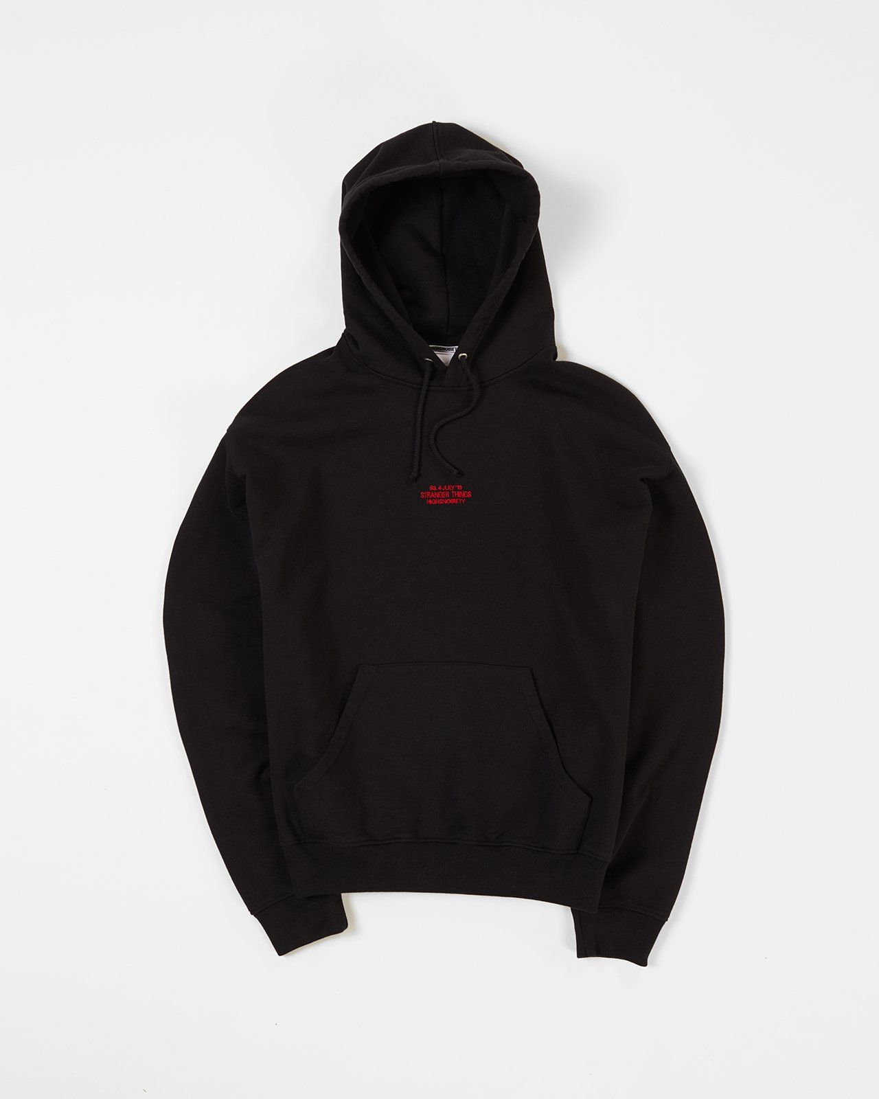Stranger Things 3 x Highsnobiety Logo Hoodie - Black - Image 2