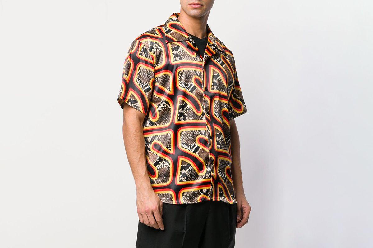Logo Snakeskin Print Shirt