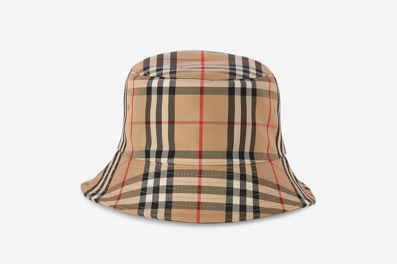 Check Pattern Bucket Hat