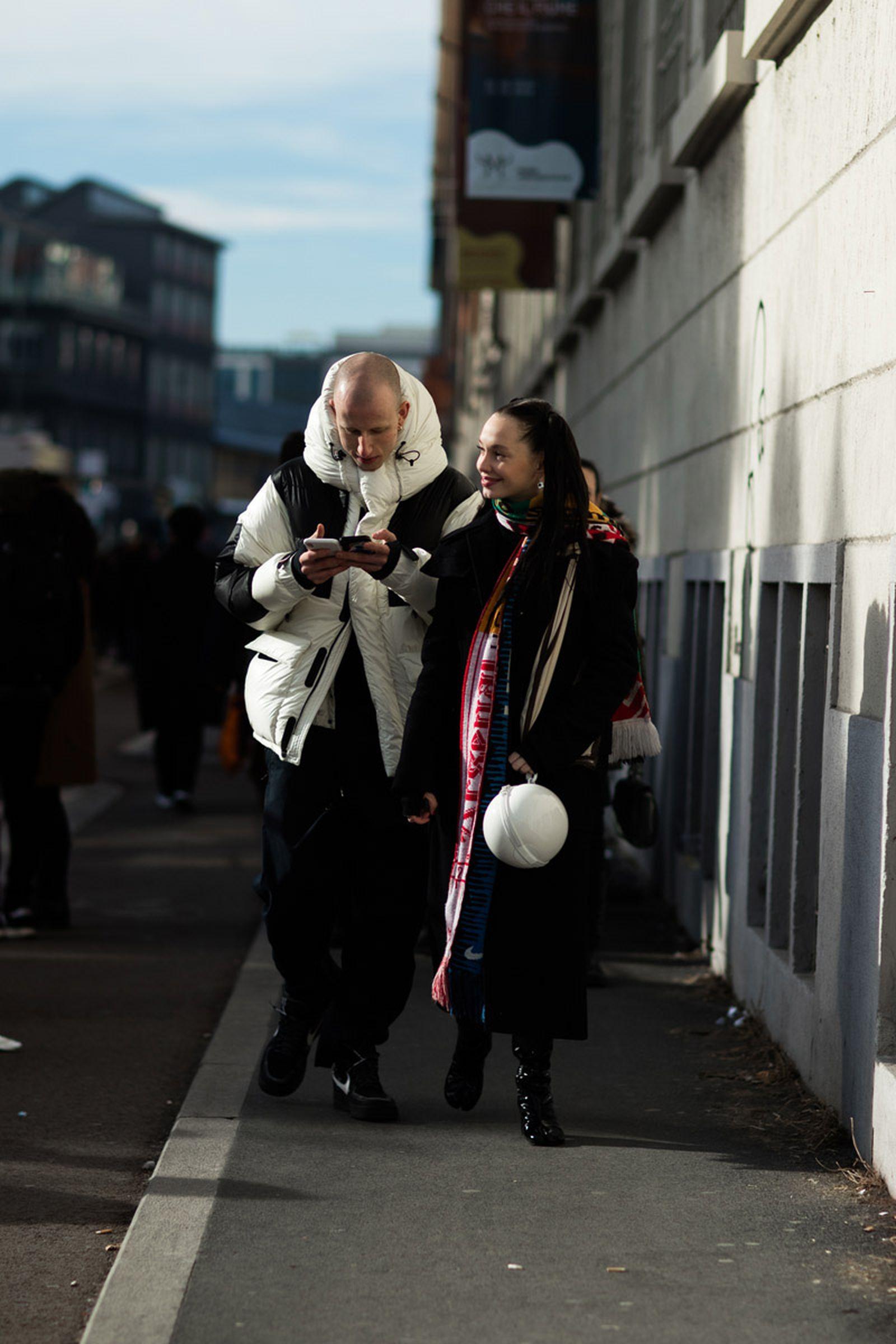 22milan fashion week street style 032c HBA x Colmar Supreme