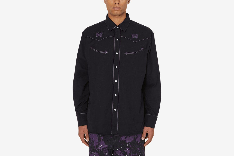 Papillion Emb. Piping Cowboy Shirt