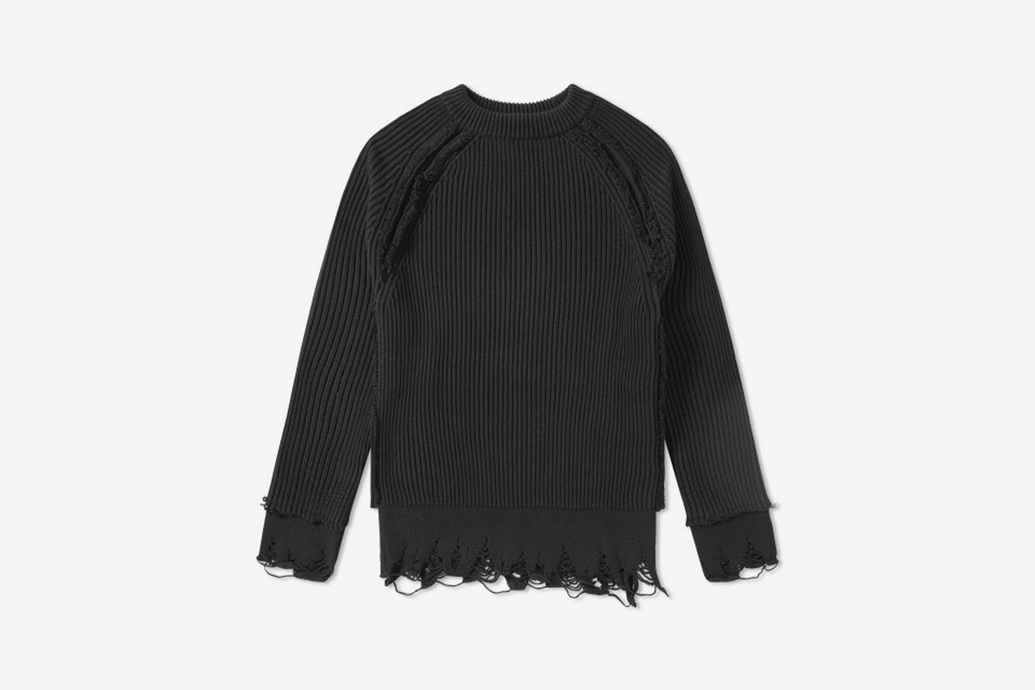 Distressed Chunky Crew Knit