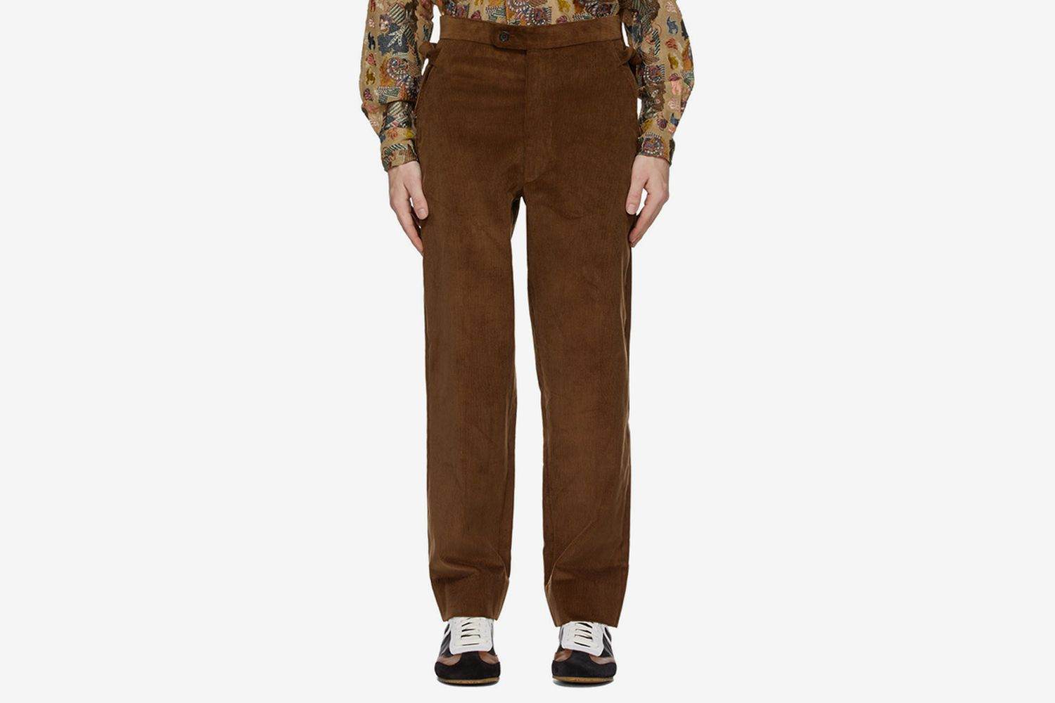 Corduroy Side-Tie Trousers