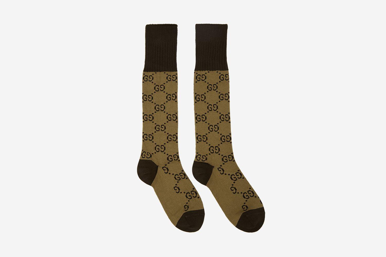 All Over Logo Socks