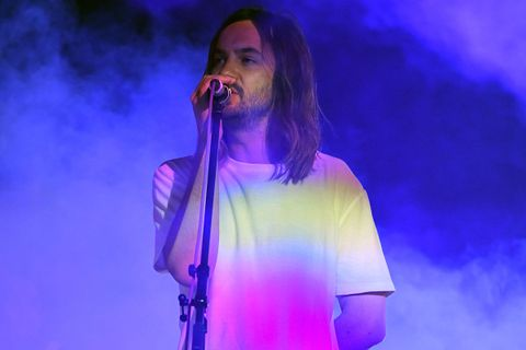 Kevin Parker Tame Impala performing