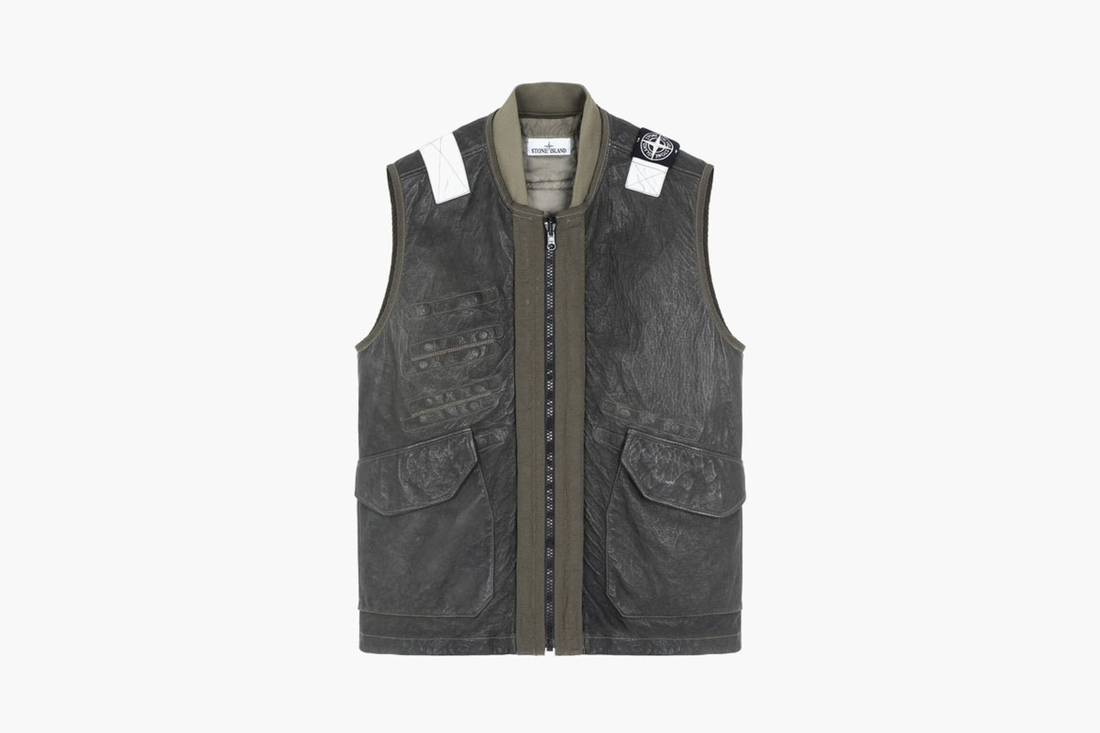 Stone Island Garment Dyed Leather Vests