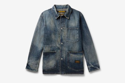 Distressed Denim Chore Jacket