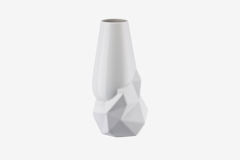 Geode White Porcelain Vase