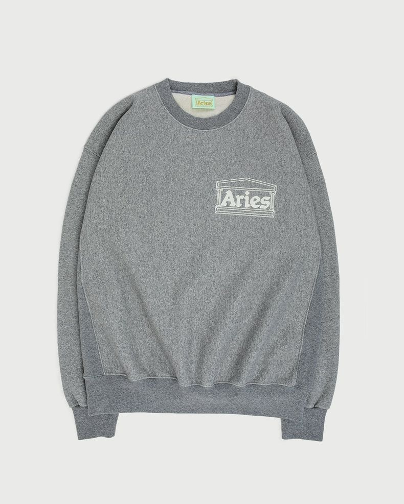 Aries — Premium Temple Sweatshirt Grey
