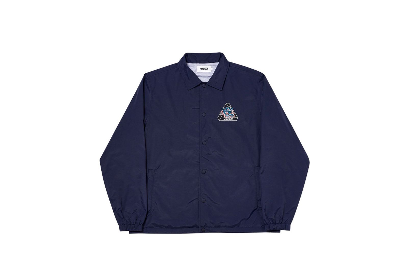 Palace 2019 Autumn Jacket Ripped Coach navy front fw19