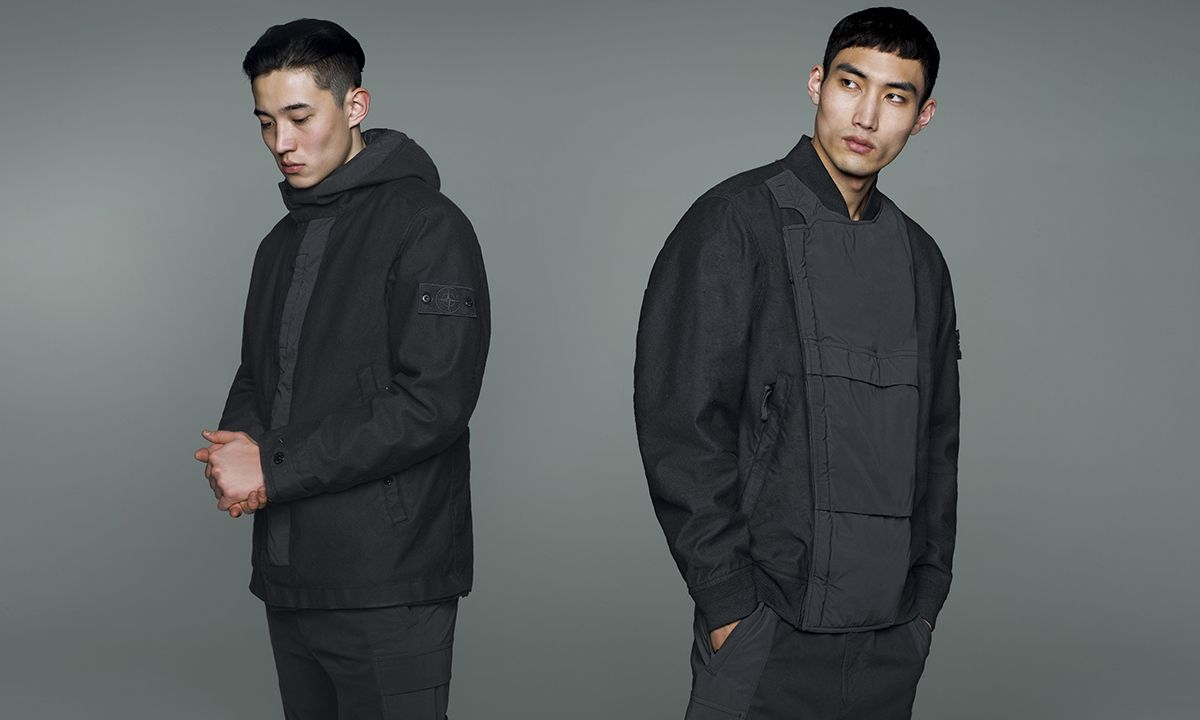 """Stone Island's New Monochromatic """"Ghost"""" Collection Just Dropped Online"""