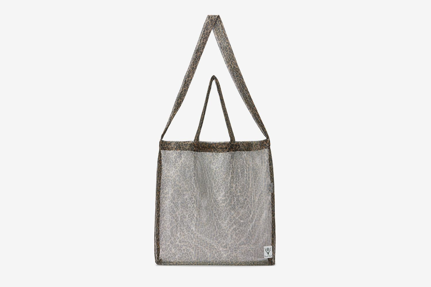 Mesh Leopard Grocery Tote