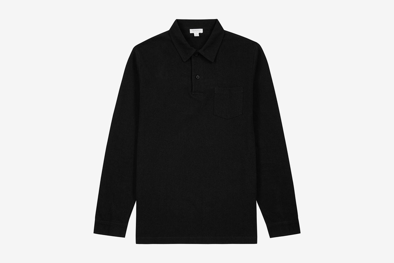 Riviera Long-Sleeve Polo Shirt