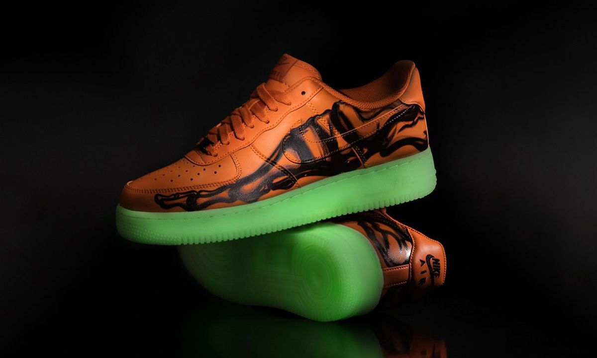 "Nike Air Force 1 ""Orange Skeleton"": Official Release Information"