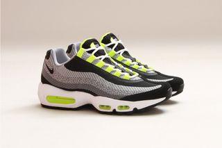 "timeless design 5bf22 27a7e Nike Air Max 95 Jacquard ""Grey Neon"""