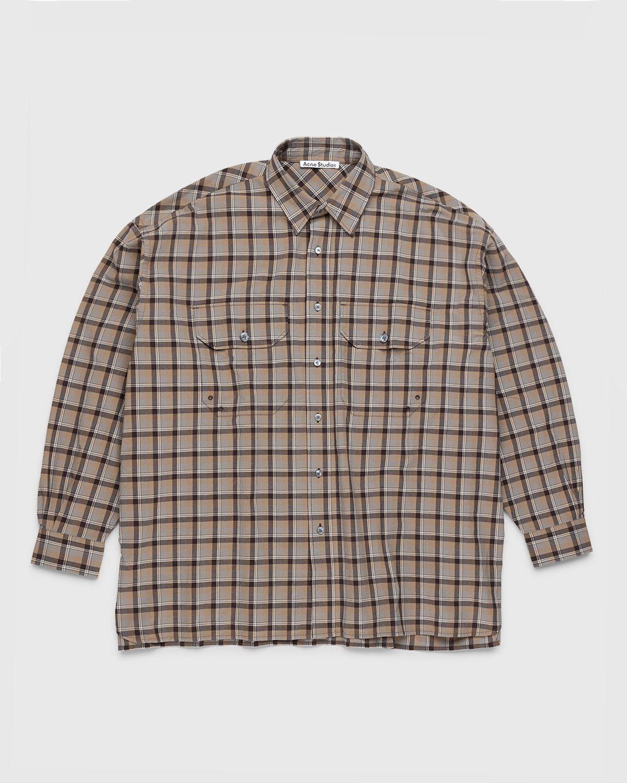 Acne Studios – Checked Shirt Brown - Image 1