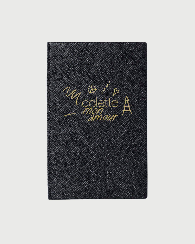colette Mon Amour - Smythson Notebook Black - Image 1