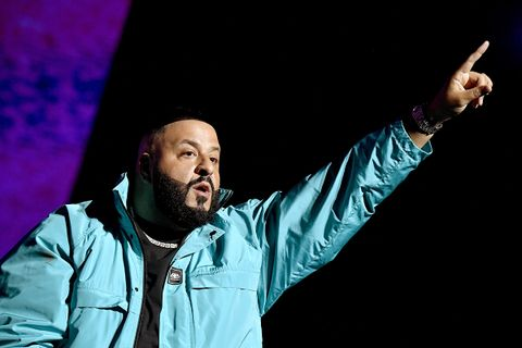 DJ Khaled performs onstage during the EA Sports Bowl
