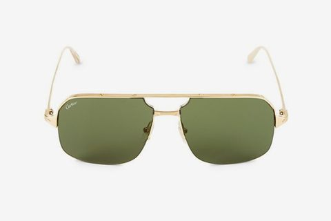 59MM Goldtone Aviator Sunglasses