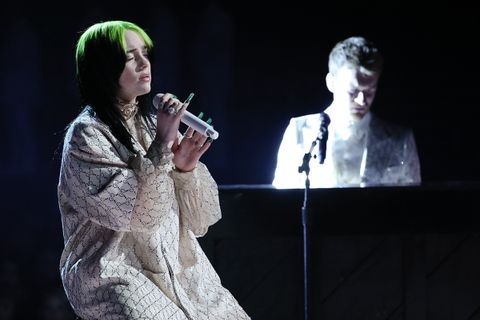 Billie Eilish performing Grammys