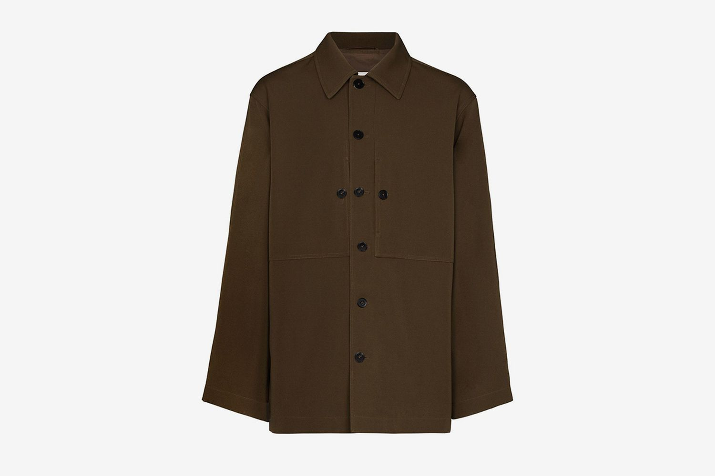 Gabardine Shirt Jacket