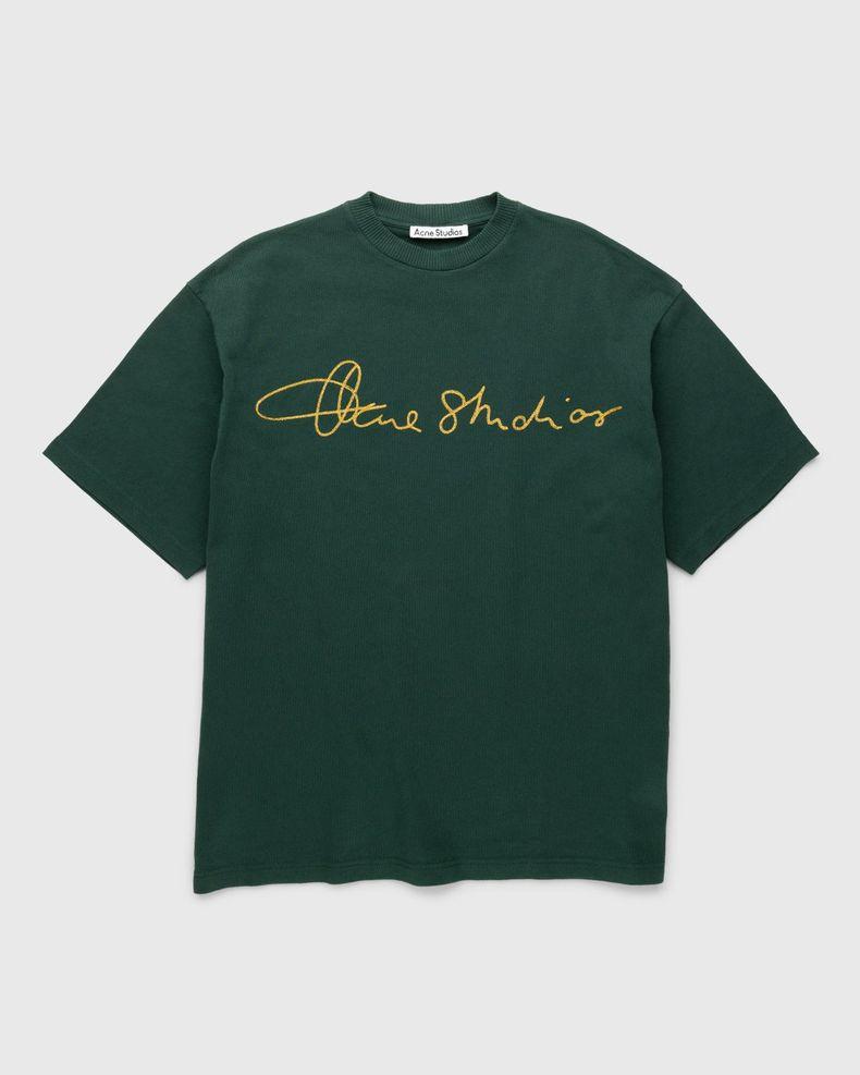 Acne Studios – Cotton Logo T-Shirt Deep Green