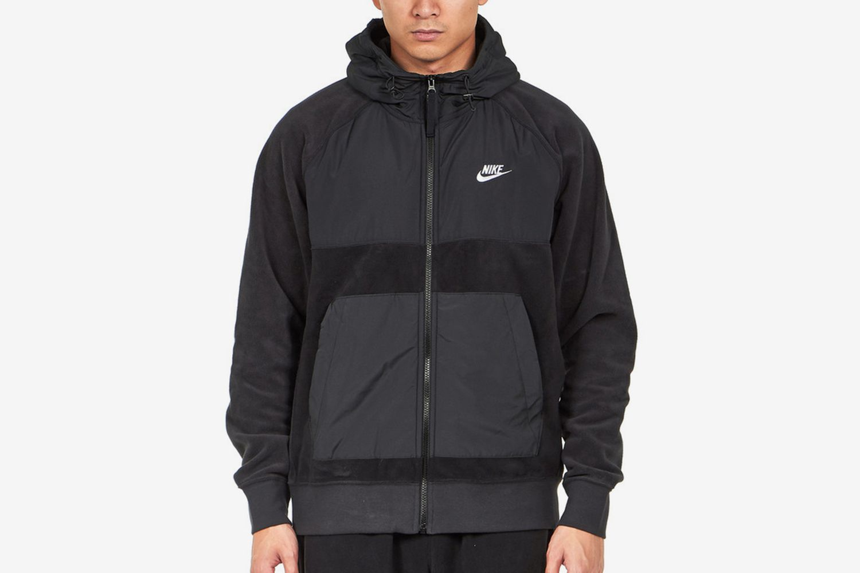 Hooded Full-Zip Fleece Jacket
